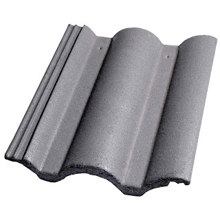 Teja de hormigón gris